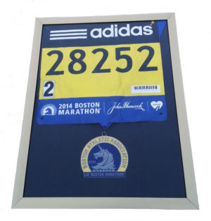 Boston Marathon medal, medal display frames,