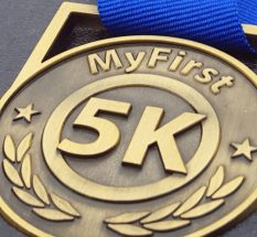 first 5k medal, first race